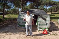 Mohamed devant sa ciabola - Palos de la Frontera