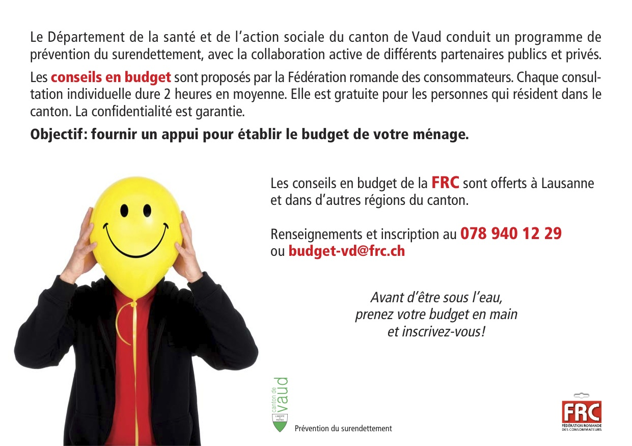 Flyer Conseil Budget Contact