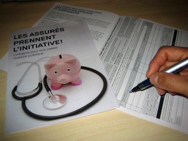 Signer l'initiative pour une caisse maladie publique