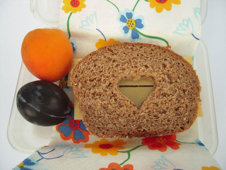 collations amusantes La tartine à hublot pour petits lapins et jolis cœurs
