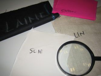 Différents échantillons de tissu