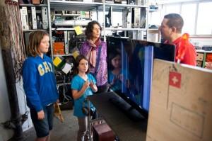 La famille Mauro et leur télé en panne