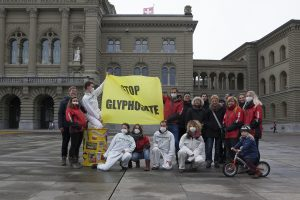 Übergabe Petition Stop Glyphostate in Bern